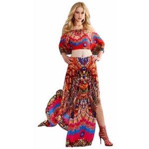 new Shahida Parides ❤︎ Cold Shoulder Silk Top ❤︎